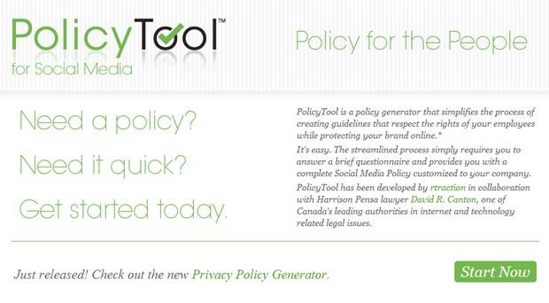 Social Media Policy Generator