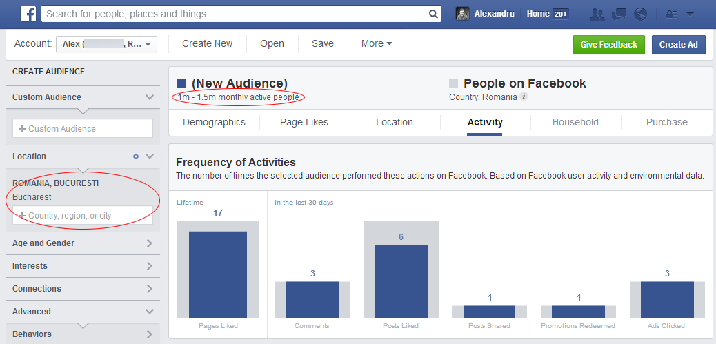 audience insights activity