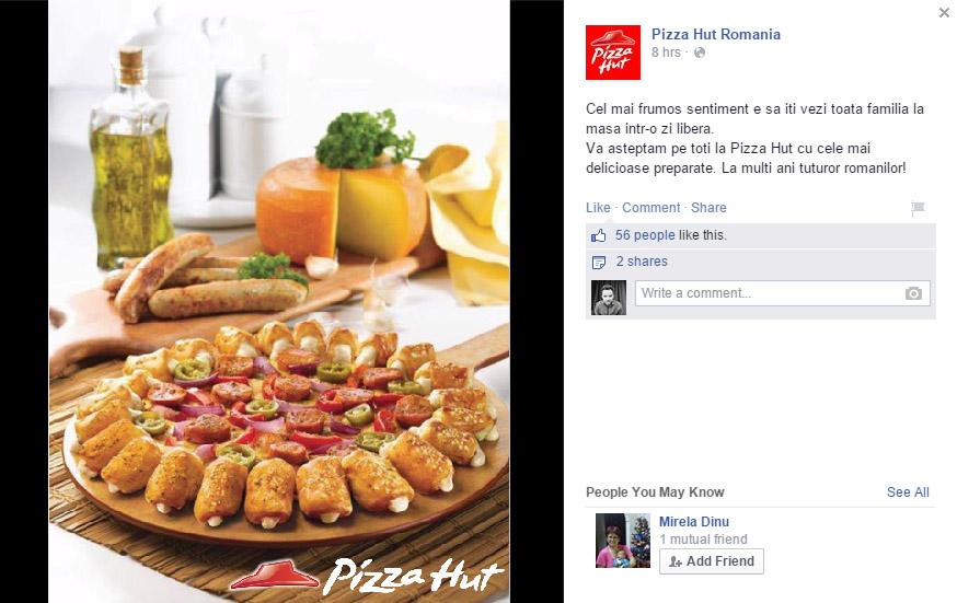 1 decembrie 2014 - pizza hut