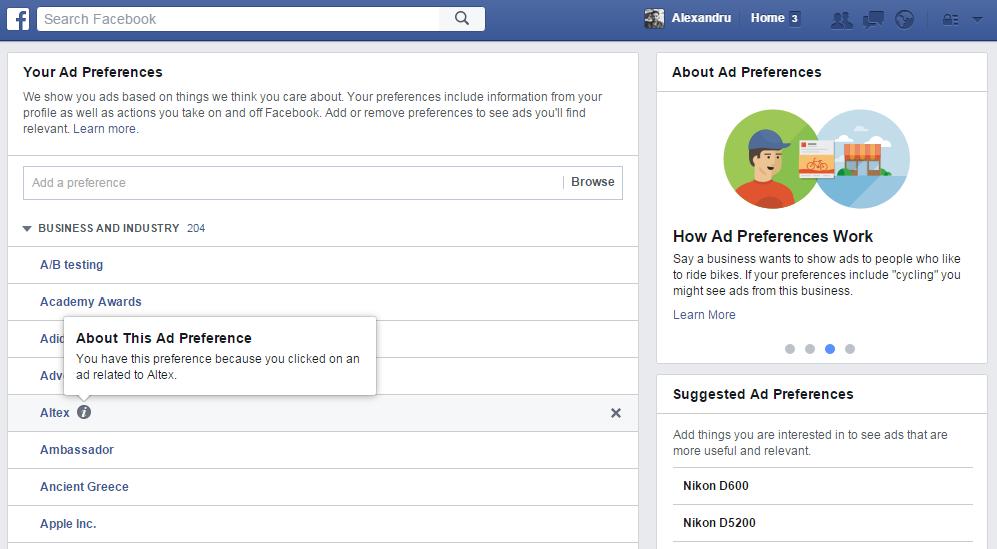 facebook ad preferences 1